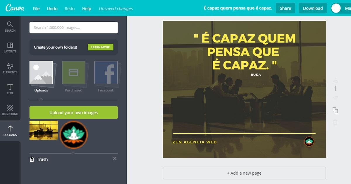 Designs exclusivos para as Redes Sociais com o Canva